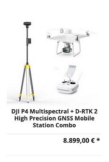 DJI P4 Multispectral + D-RTK 2 High Prec