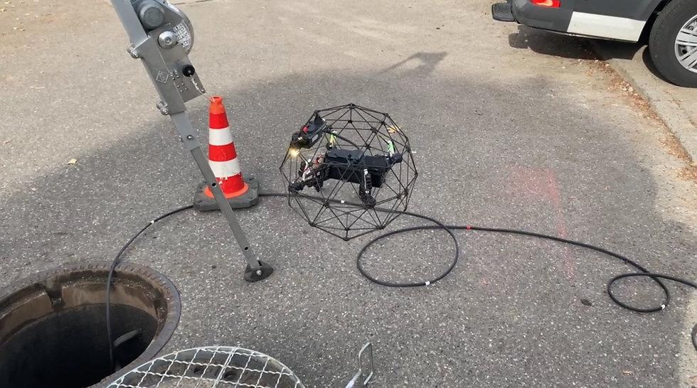 Kanalinspektion mit Drohnen