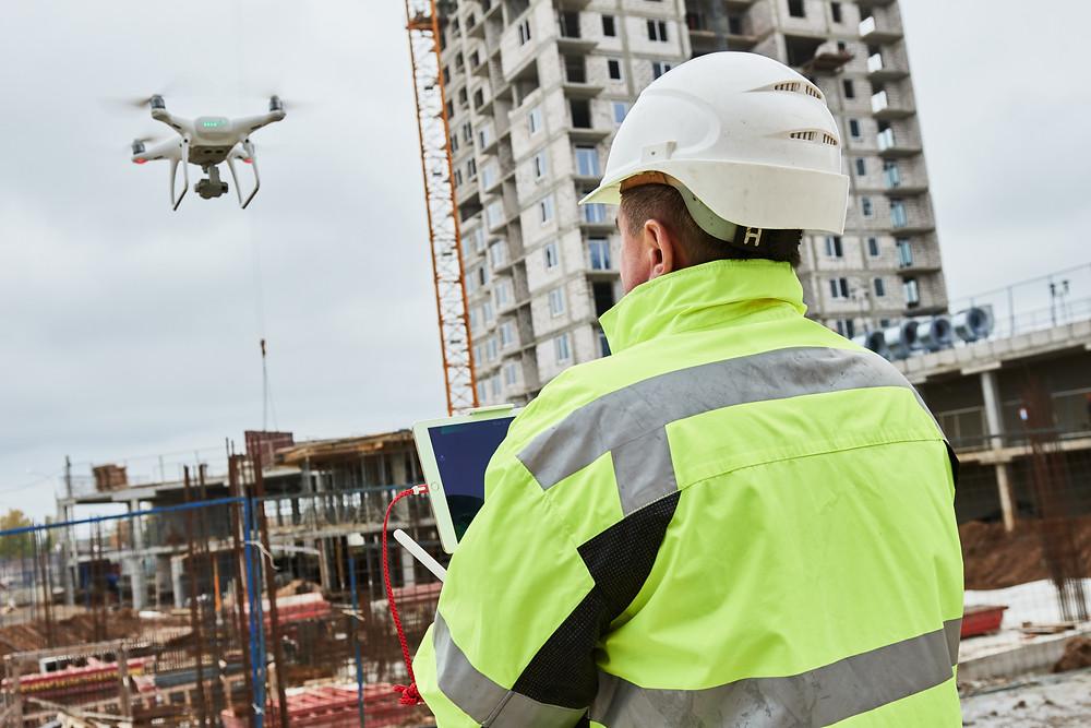Drohnen im Building Information Modeling Baugewerbe