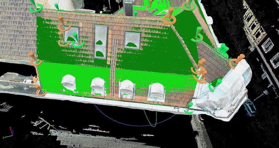 Dachvermessung mittels Drohne
