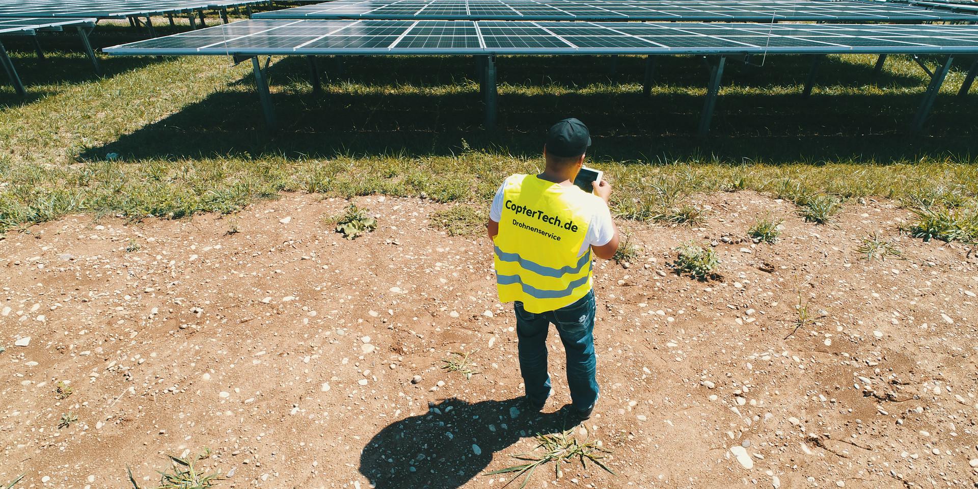 Photovoltaikanlage  Drohne