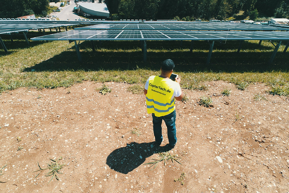 Inspektion Photovoltaikanlage Drohne