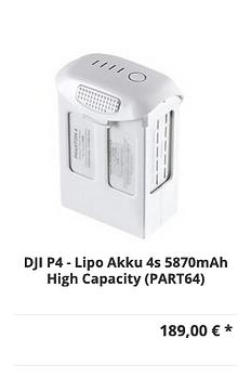 DJI P4 - Lipo Akku 4s 5870mAh High Capac