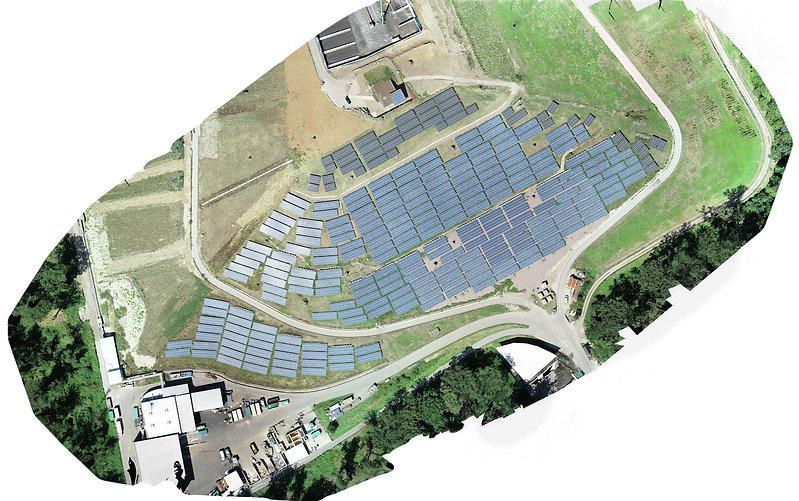 Orthofoto einer Photovoltaikanlage