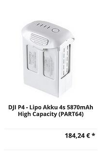 DJI Phantom 4 Lipo Akku