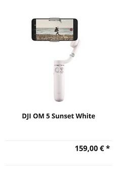 DJI OM 5 Sunset White