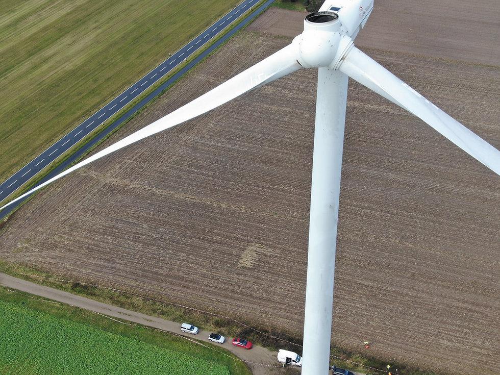 Inspektion Windkraftanlage per Drohne