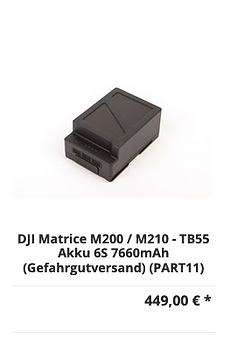 DJI Matrice M200 / M210 - TB55 Akku 6S 7