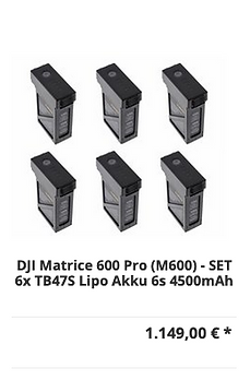 DJI Matrice 600 Pro (M600) - SET 6x TB47