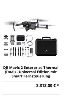DJI Mavic 2 Enterprise Thermal (Dual) - Universal Edition mit Smart Fernsteuerung