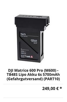 DJI Matrice 600 Pro (M600) - TB48S Lipo