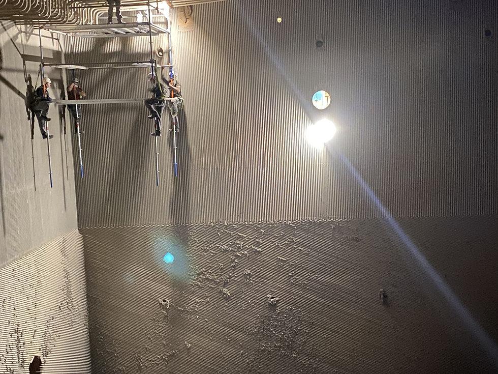 Kessel Kohlekraftwerk Gerüstbau
