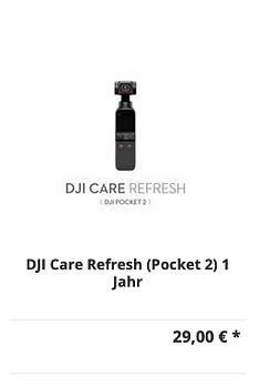 DJI Care Refresh Pocket 2 - 1 Jahr