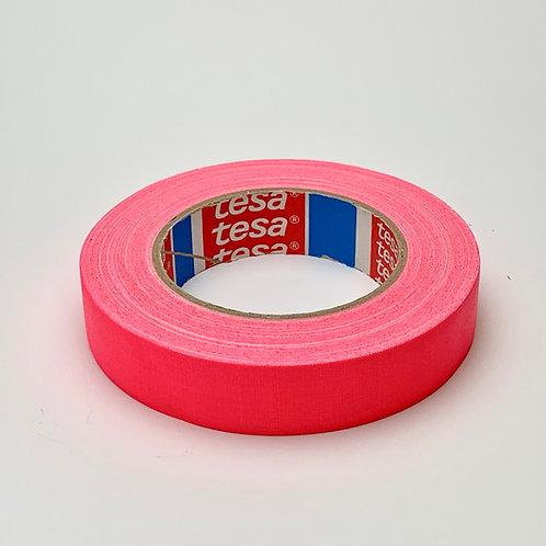 Tesa テサ 蛍光ガッファーテープ、蛍光ピンク 25mm x 25m