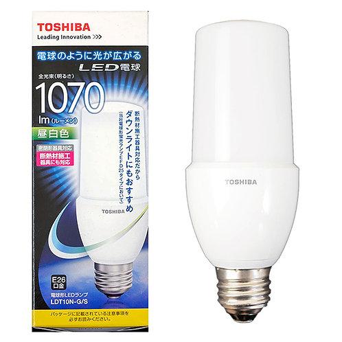 LED 東芝 電球形LEDランプ 昼白色 LDT10N-G/S(100W相当)