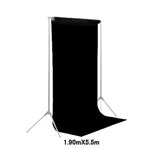 背景紙ミドル 幅1m90cm長さ5m50cm (101)ブラック