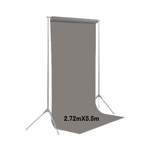 背景紙ロール幅2m70cm長さ5m50cm(109)ダブグレー