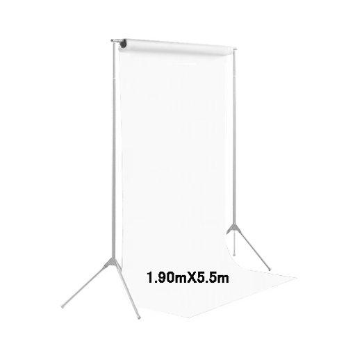 背景紙ミドル 幅1m90cm長さ5m50cm (129)スーパーホワイト