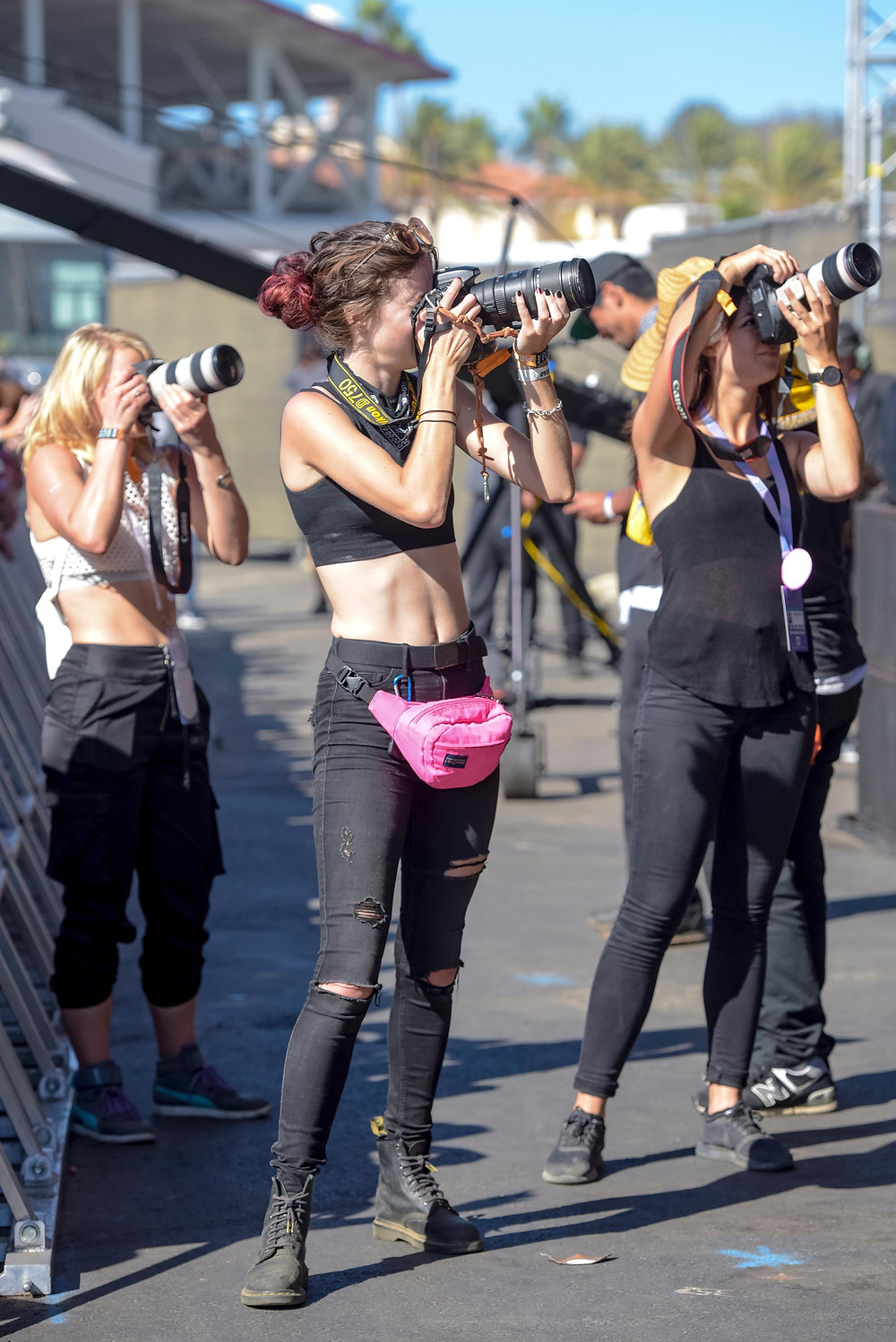 Female Concert Photographers in the photo pit