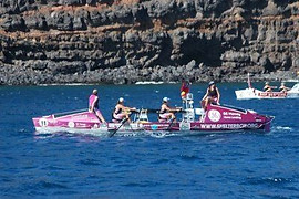 Rowgirls in La Gomera