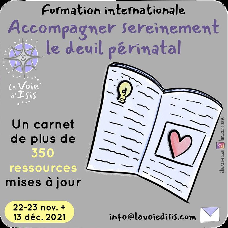 Dernière formation en deuil périnatal : 22 et 23/11 + 13/12/2021