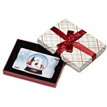 plaid amazon gift card with box