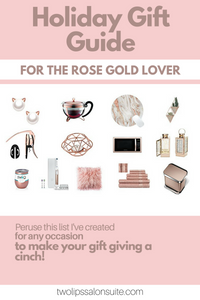 Select from an array of unique items for the Rose Gold Lover in your life
