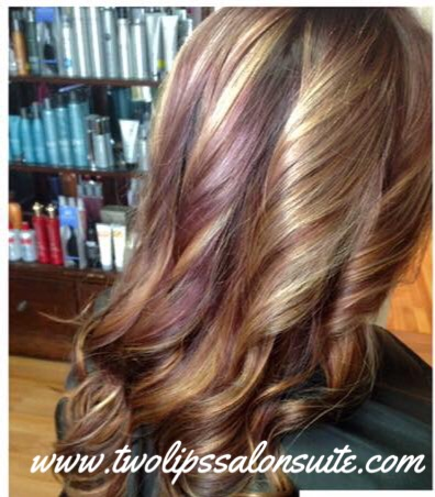 Red and Blonde Foiling