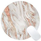 marble rose gold mouse pad