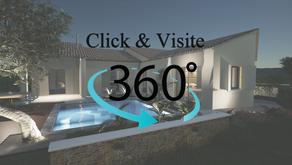 Visitez à 360 ° notre dernière Extension + Piscine