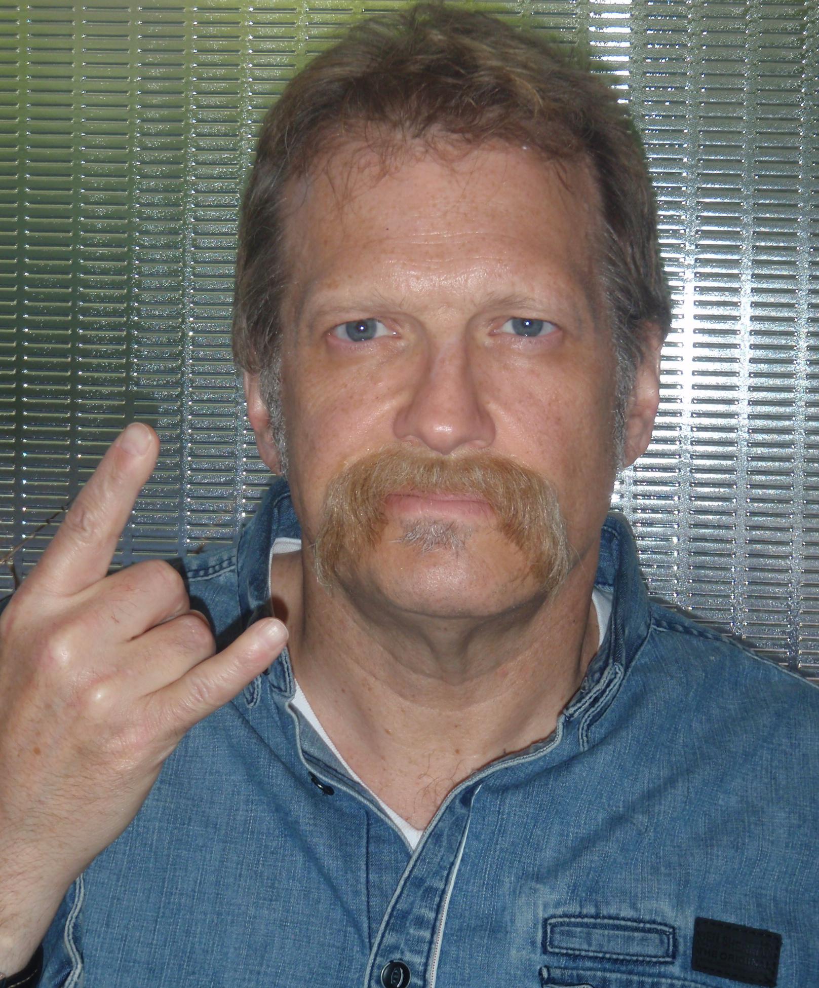 Drew Carey lace mustache