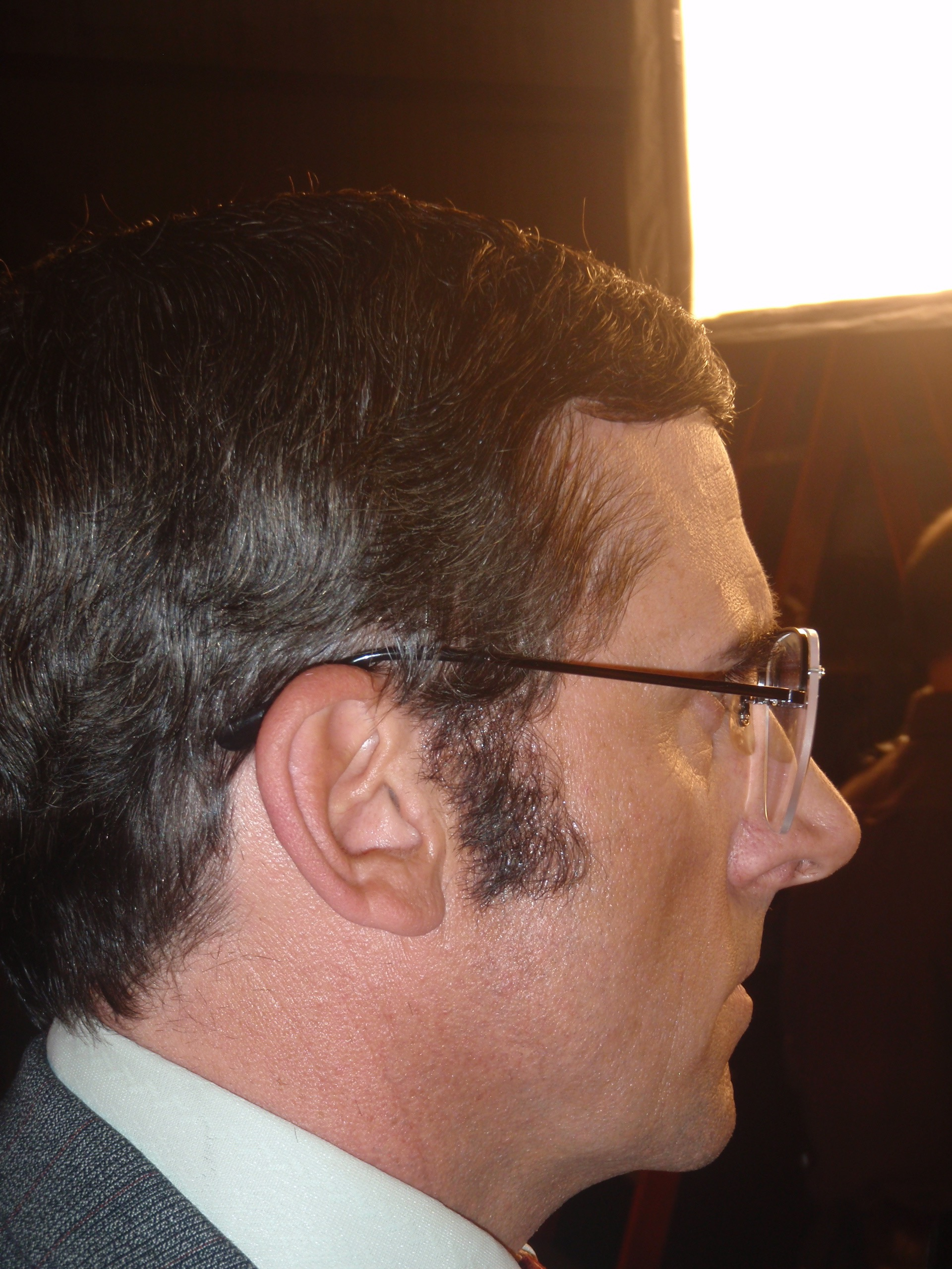 Steve Carell sideburns - Anchorman 2