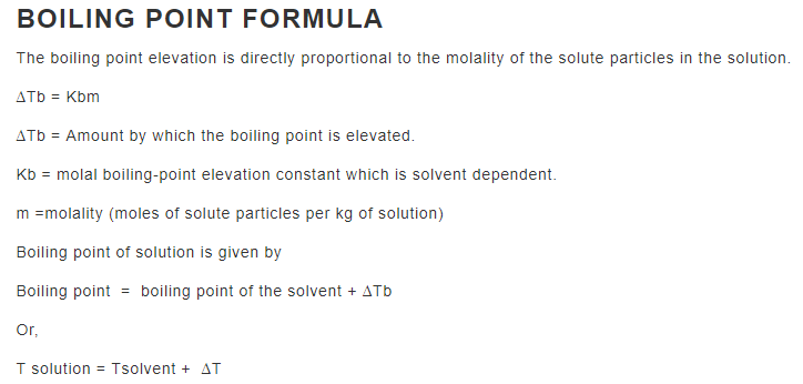 Boiling Point Formula