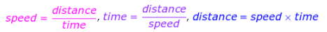 Distance, Speed, and Time