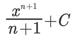 Anitderivatives Formula