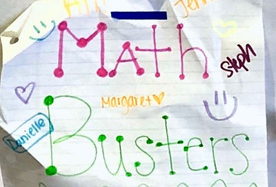 NOV 3 & 4 MATH Team Workshop.MathBusters