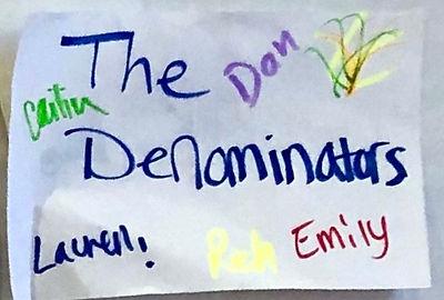 NOV 3 & 4 MATH Team Workshop.TheDenomina