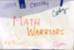 NOV 3 & 4 MATH Team Workshop.MathWarrior