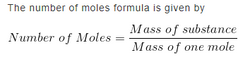 Number of Moles Formula