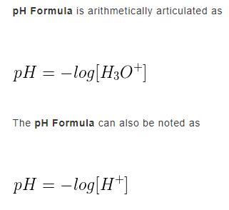 pH Formula