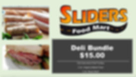 Deli Meat and Cheese Sale at Sliders Food Mart