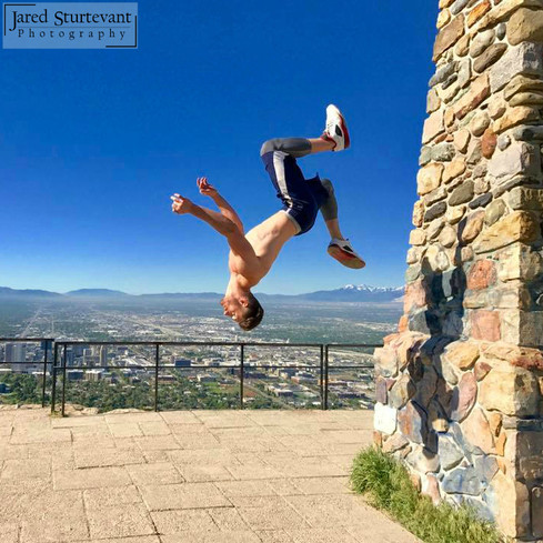 Ben Stein, Freerunning, backflip, Salt Lake City, Utah, photograph by Jared Sturtevant Photography