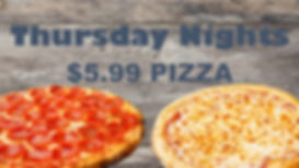 Pizza Special at Sliders Food Mart every Thursday Night