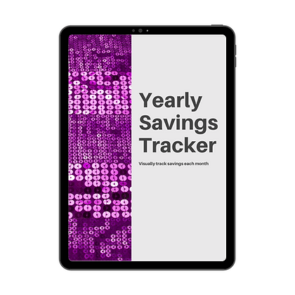 Yearly Savings Tracker - Printable