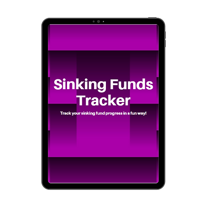 Sinking Funds Tracker - Printable