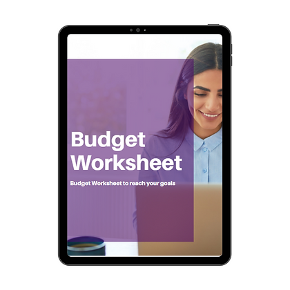 Budget Worksheet - Printable