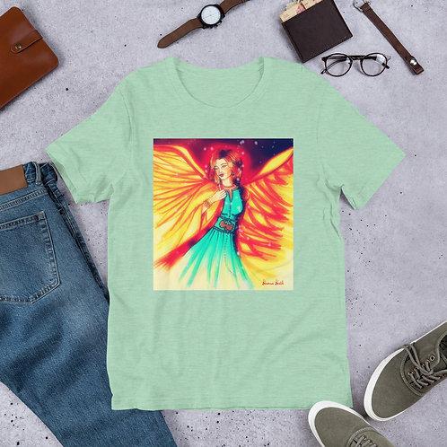 """T-shirt manches courtes menthe chiné """" Résilience """""""