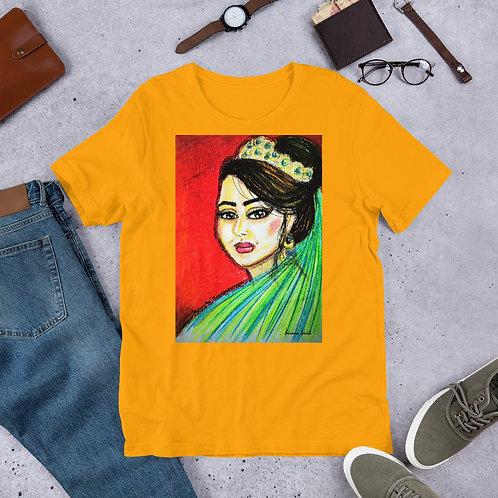 "T-Shirt manches courtes jaune-oranger "" Alhorra """