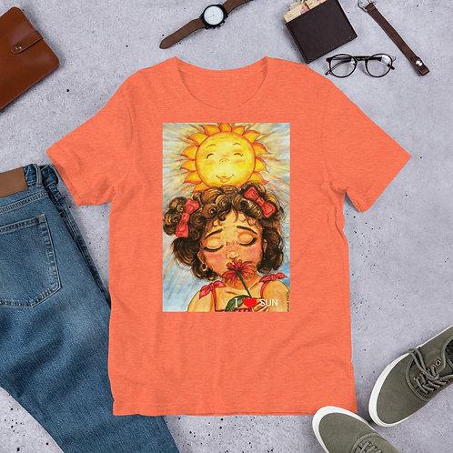 "T-Shirt manches courtes pêche "" I love Sun """