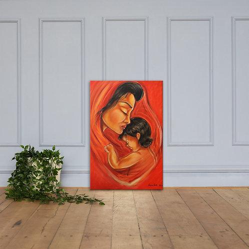 """Toile """" La mère et l'enfant """""""